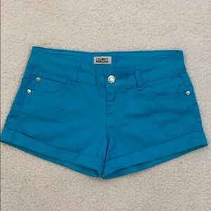 Celebrity Pink Juniors Blue Cuff Shorts  Size 7